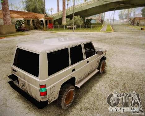 Daihatsu Taft Hiline Long pour GTA San Andreas sur la vue arrière gauche