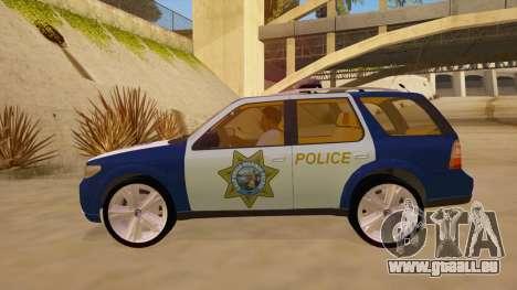 Saab 9-7X Police pour GTA San Andreas laissé vue