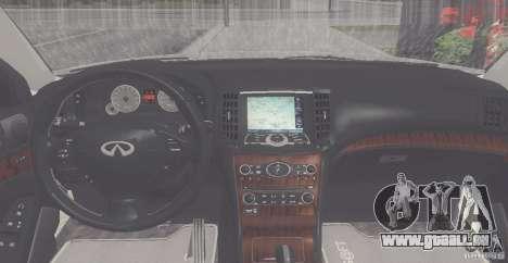 Infiniti M35 pour GTA San Andreas vue de droite