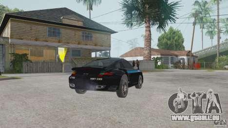 Porsche 911 pour GTA San Andreas laissé vue