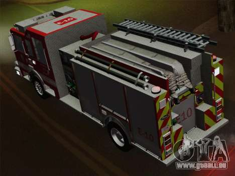 Pierce Saber LAFD Engine 10 für GTA San Andreas Motor