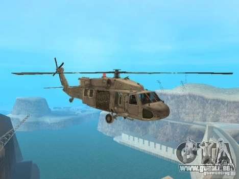 Die UH-60 von COD MW3 für GTA San Andreas