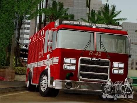 Pierce Contender LAFD Rescue 42 für GTA San Andreas Rückansicht