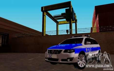 Volkswagen Passat B6 Variant Polizei für GTA San Andreas Rückansicht