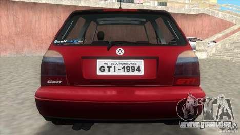 Volkswagen Golf GTI 1994 pour une vue GTA Vice City de la gauche