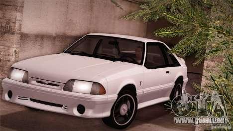 Ford Mustang SVT Cobra 1993 pour GTA San Andreas laissé vue