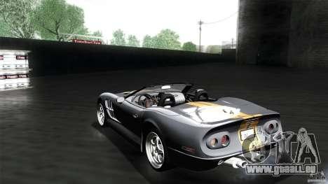 Shelby Series 1 1999 pour GTA San Andreas laissé vue