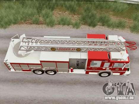 Pierce Arrow LAFD Ladder 43 für GTA San Andreas Seitenansicht