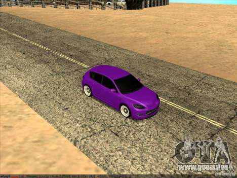 Mazda Speed 3 Stance pour GTA San Andreas vue de droite