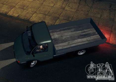 Gazelle 33021 für GTA San Andreas obere Ansicht