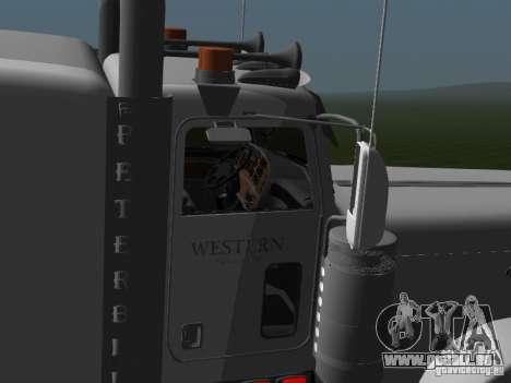 Peterbilt 389 2009 pour GTA San Andreas sur la vue arrière gauche