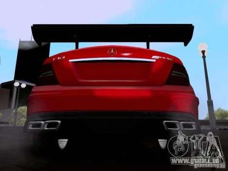 Mercedes-Benz C63 AMG 2012 Black Series für GTA San Andreas rechten Ansicht