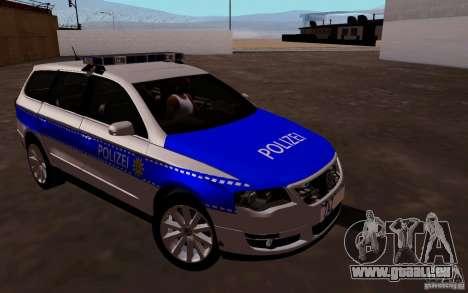 Volkswagen Passat B6 Variant Polizei für GTA San Andreas