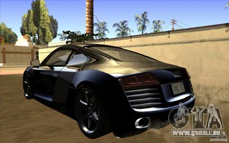 Audi R8 pour GTA San Andreas laissé vue