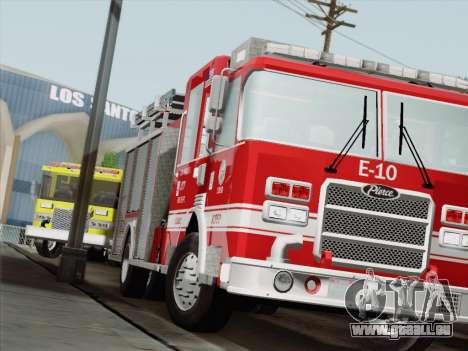 Pierce Saber LAFD Engine 10 pour GTA San Andreas laissé vue
