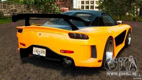 Mazda RX-7 Veilside Tokyo Drift für GTA 4 hinten links Ansicht
