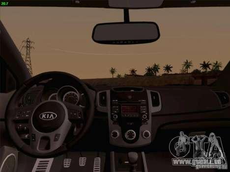 Kia Cerato Coupe 2011 für GTA San Andreas Rückansicht