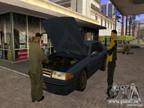Beschäftigt Tankstelle in Los Santos für GTA San Andreas dritten Screenshot