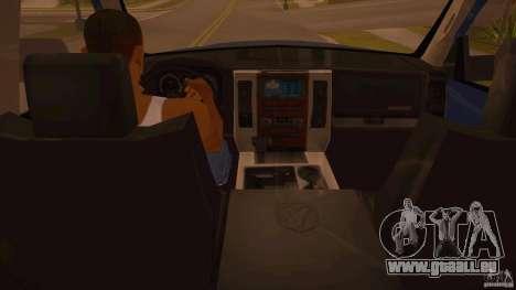 Dodge Ram 2500 HD 2012 pour GTA San Andreas vue de droite