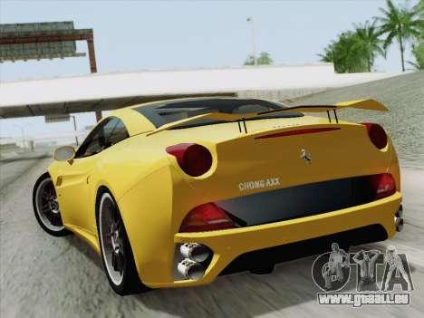 Ferrari California pour GTA San Andreas vue de droite