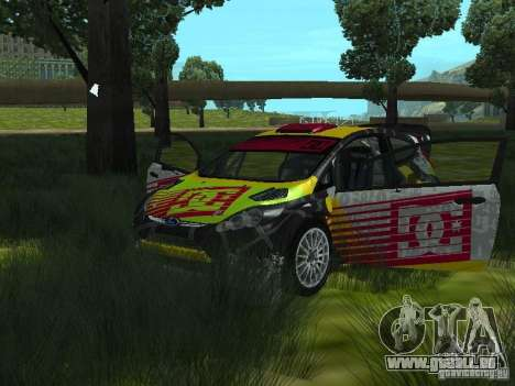 Ford Fiesta H.F.H.V. Ken Block Gymkhana 5 pour GTA San Andreas vue arrière