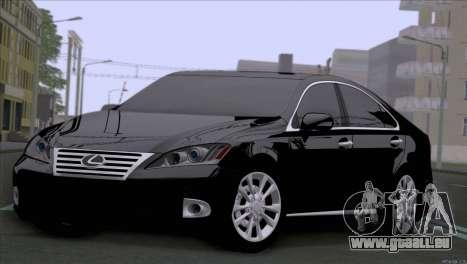 Lexus ES350 pour GTA San Andreas laissé vue