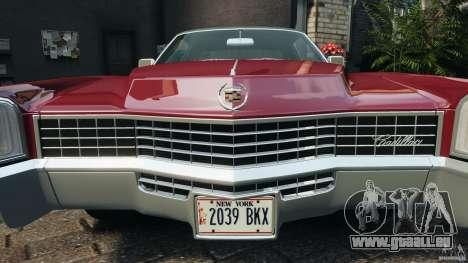 Cadillac Eldorado 1968 für GTA 4-Motor