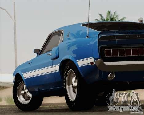 Shelby GT500 428 Cobra Jet 1969 pour GTA San Andreas salon