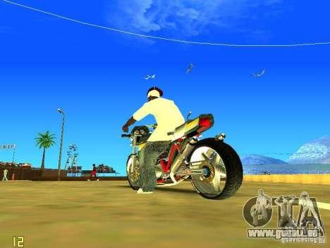 Kawasaki Z400 pour GTA San Andreas vue de droite