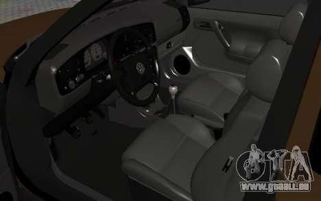 Volkswagen Golf Mk3 für GTA San Andreas Rückansicht
