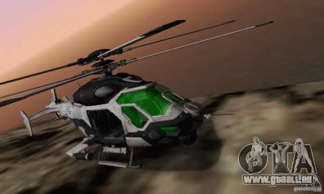 AH-2 Сrysis 50 C.E.L.L. hélicoptère pour GTA San Andreas vue de droite