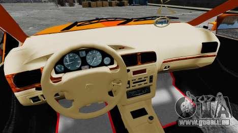 Iran Khodro Samand LX Taxi pour GTA 4 Vue arrière