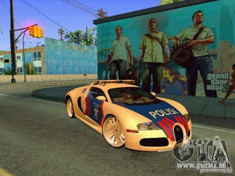 Bugatti Veyron Indonesian Police für GTA San Andreas