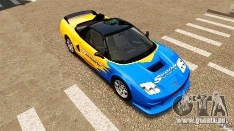 Honda NSX-R GT pour GTA 4 vue de dessus