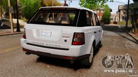 Land Rover Range Rover Sport Supercharged 2010 pour GTA 4 Vue arrière de la gauche