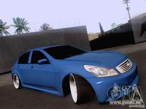 Infiniti G37 Sedan pour GTA San Andreas sur la vue arrière gauche