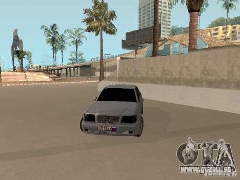 Mercedes-Benz E420 AMG pour GTA San Andreas vue de droite