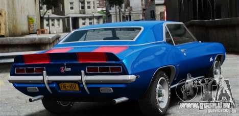 Chevrolet Camaro Z28 1969 pour GTA 4 est une gauche