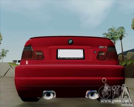 BMW E46 pour GTA San Andreas sur la vue arrière gauche