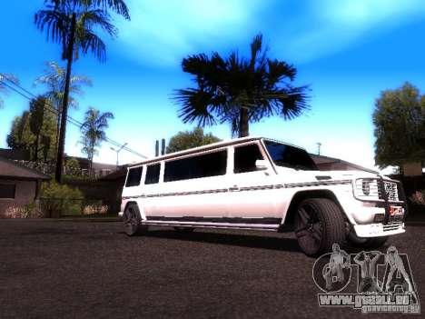 Mercedes-Benz G500 Limousine für GTA San Andreas zurück linke Ansicht