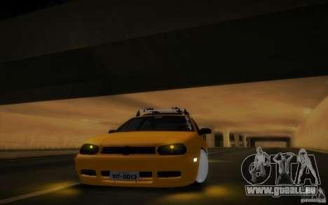 Volkswagen Golf pour GTA San Andreas vue intérieure