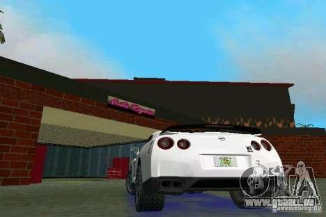 Nissan GT-R Spec V 2010 v1.0 für GTA Vice City rechten Ansicht