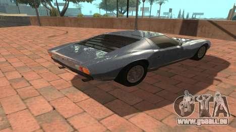 Lamborghini Miura P400 SV 1971 V1.0 pour GTA San Andreas vue arrière