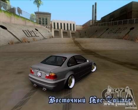 BMW 3-er E46 Dope für GTA San Andreas Innen
