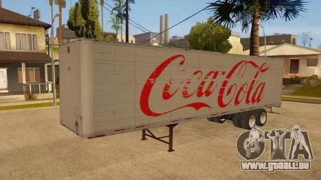 Remorque tout métal pour GTA San Andreas vue intérieure