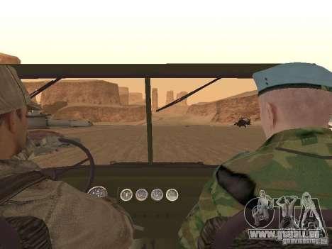Une soldat soviétique de la peau pour GTA San Andreas septième écran