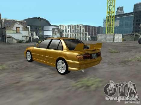 Mitsubishi Lancer Evolution III pour GTA San Andreas sur la vue arrière gauche
