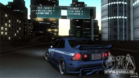 Lexus IS 300 Veilside pour GTA San Andreas sur la vue arrière gauche