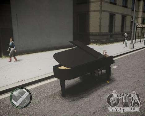 Crazy Piano für GTA 4 hinten links Ansicht