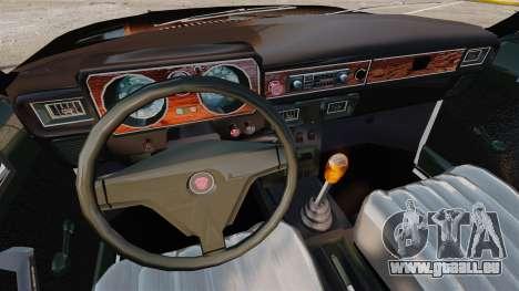Gaz-3102 FBI pour GTA 4 est une vue de l'intérieur